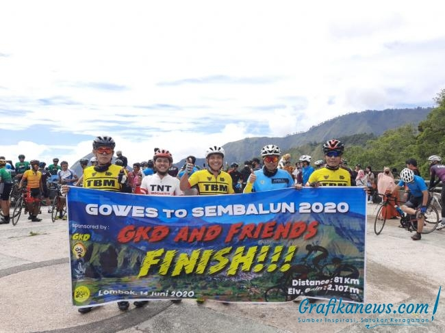 Gowes To Sembalun 2020 Geliat Pebalap NTB Sambut New Normal